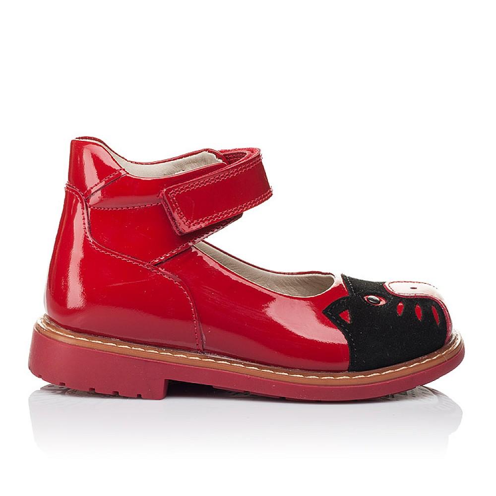 Детские туфли ортопедические Woopy Orthopedic красные для девочек натуральная лаковая кожа размер 21-30 (3378) Фото 4