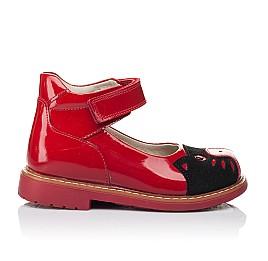 Детские туфли ортопедические Woopy Orthopedic красные для девочек натуральная лаковая кожа размер 21-21 (3378) Фото 4