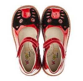 Детские туфли ортопедические Woopy Orthopedic красные для девочек натуральная лаковая кожа размер 21-21 (3378) Фото 5