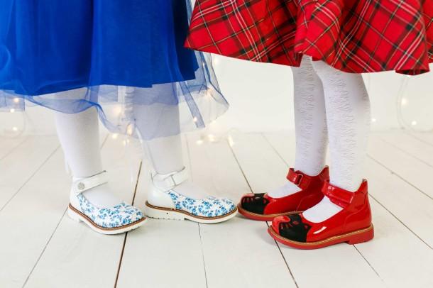 Девочка обута в детские туфли ортопедические Woopy Orthopedic красные (3378) Фото 2