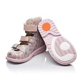 Детские ортопедические туфли (с высоким берцем) Woopy Orthopedic розовые для девочек  натуральная кожа размер 26-34 (3382) Фото 2