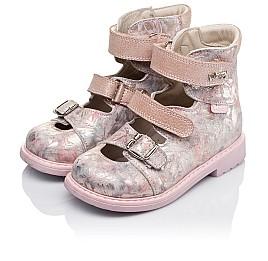 Детские ортопедические туфли (с высоким берцем) Woopy Orthopedic розовые для девочек  натуральная кожа размер 26-34 (3382) Фото 3