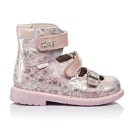 Детские ортопедические туфли (с высоким берцем) Woopy Orthopedic розовые для девочек  натуральная кожа размер 26-34 (3382) Фото 4