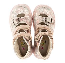 Детские ортопедические туфли (с высоким берцем) Woopy Orthopedic розовые для девочек  натуральная кожа размер 26-34 (3382) Фото 5
