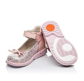Детские туфлі ортопедичні Woopy Orthopedic пудровые для девочек  натуральная кожа размер - (3384) Фото 2