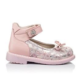 Детские туфлі ортопедичні Woopy Orthopedic пудровые для девочек  натуральная кожа размер - (3384) Фото 4