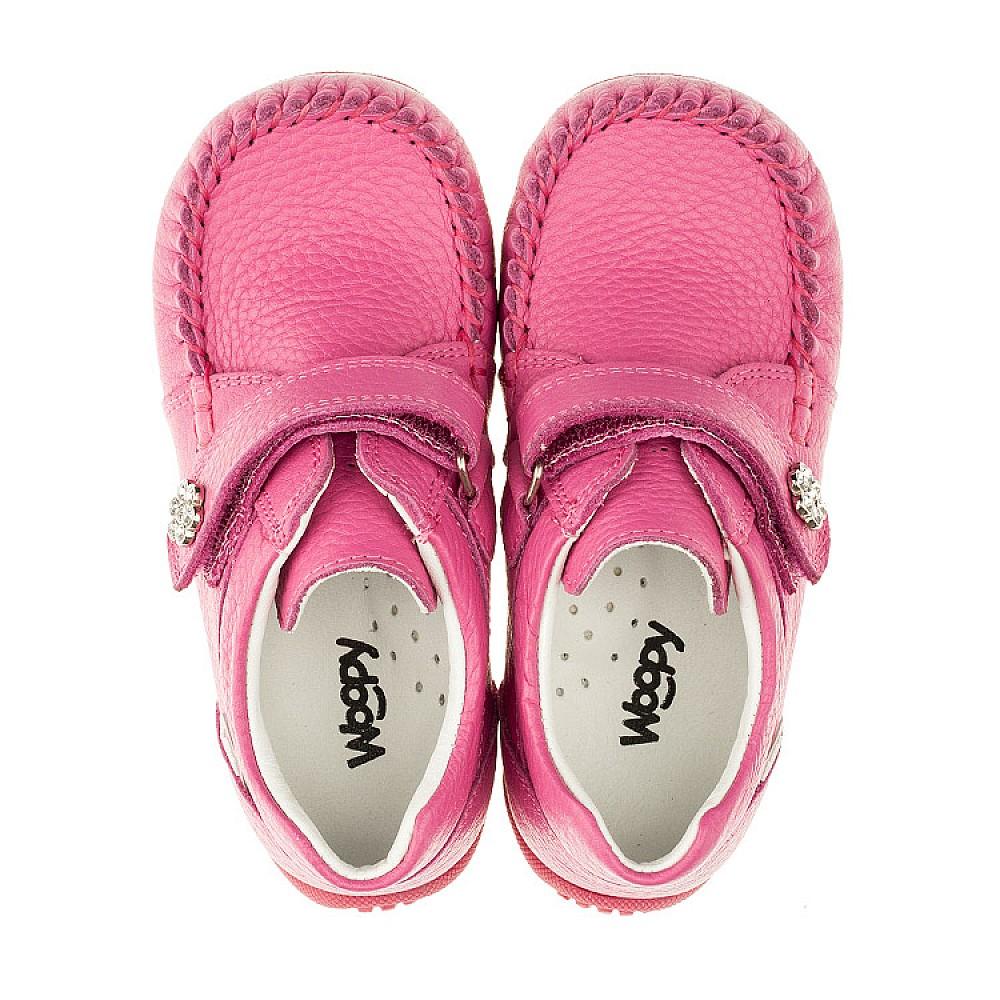 Детские мокасины Woopy Orthopedic розовые для девочек натуральная кожа размер 18-30 (3385) Фото 5
