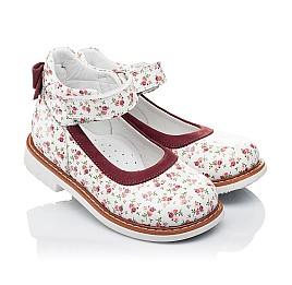 Детские туфлі ортопедичні Woopy Orthopedic белые,бордовые для девочек натуральные кожа и нубук размер 23-23 (3388) Фото 1
