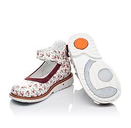 Детские туфлі ортопедичні Woopy Orthopedic белые,бордовые для девочек натуральные кожа и нубук размер 23-23 (3388) Фото 2