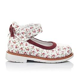 Детские туфлі ортопедичні Woopy Orthopedic белые,бордовые для девочек натуральные кожа и нубук размер 23-23 (3388) Фото 4