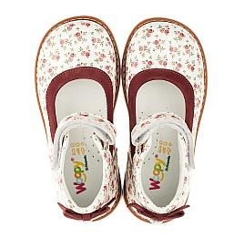 Детские туфлі ортопедичні Woopy Orthopedic белые,бордовые для девочек натуральные кожа и нубук размер 23-23 (3388) Фото 5