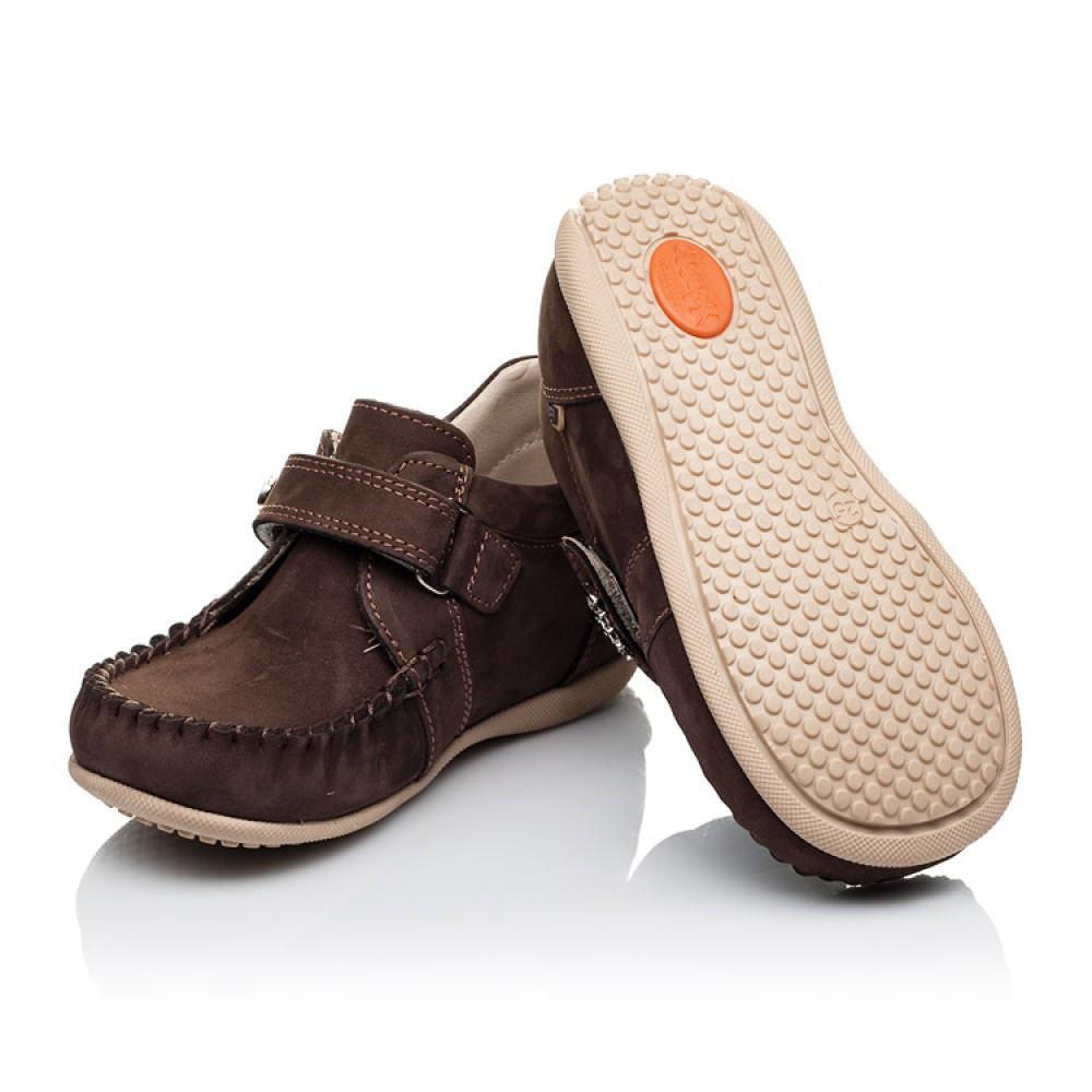 Детские мокасины Woopy Orthopedic коричневые для мальчиков натуральный нубук размер 23-30 (3390) Фото 2