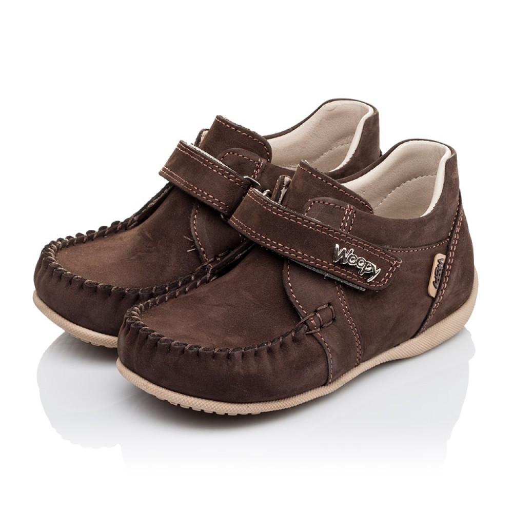 Детские мокасины Woopy Orthopedic коричневые для мальчиков натуральный нубук размер 23-30 (3390) Фото 3