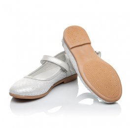 Детские туфлі Woopy Orthopedic серебряные для девочек  натуральная кожа размер - (3391) Фото 2