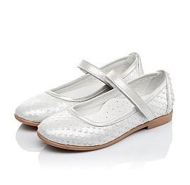 Детские туфлі Woopy Orthopedic серебряные для девочек  натуральная кожа размер - (3391) Фото 3