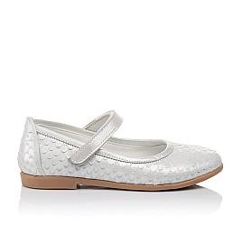 Детские туфлі Woopy Orthopedic серебряные для девочек  натуральная кожа размер - (3391) Фото 4