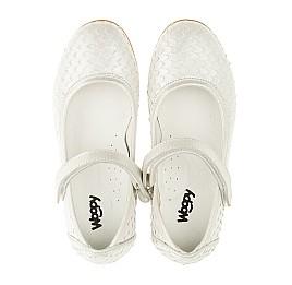 Детские туфлі Woopy Orthopedic серебряные для девочек  натуральная кожа размер - (3391) Фото 5