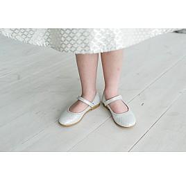 Детские туфлі Woopy Orthopedic серебряные для девочек  натуральная кожа размер - (3391) Фото 7