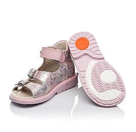 Детские ортопедические босоножки Woopy Orthopedic розовые для девочек натуральная кожа размер - (3394) Фото 2