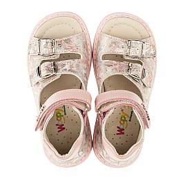Детские ортопедические босоножки Woopy Orthopedic розовые для девочек натуральная кожа размер - (3394) Фото 5