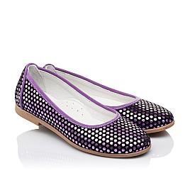 Детские туфли Woopy Orthopedic фиолетовые для девочек натуральная замша размер 31-37 (3395) Фото 1