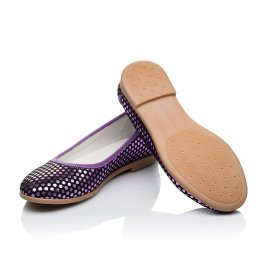 Детские туфли Woopy Orthopedic фиолетовые для девочек натуральная замша размер 31-37 (3395) Фото 2