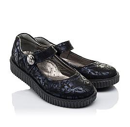Детские туфли Woopy Orthopedic темно-синие для девочек  натуральная кожа размер 36-36 (3398) Фото 1
