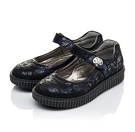 Детские туфли Woopy Orthopedic темно-синие для девочек  натуральная кожа размер 36-36 (3398) Фото 3