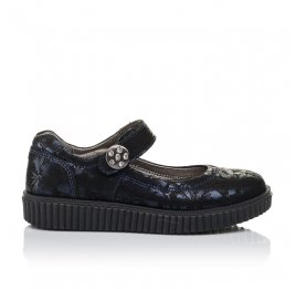Детские туфли Woopy Orthopedic темно-синие для девочек  натуральная кожа размер 36-36 (3398) Фото 4