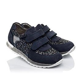 Детские кроссовки Woopy Orthopedic темно-синие для девочек натуральный нубук, современный искусственный материал размер 26-40 (3399) Фото 1