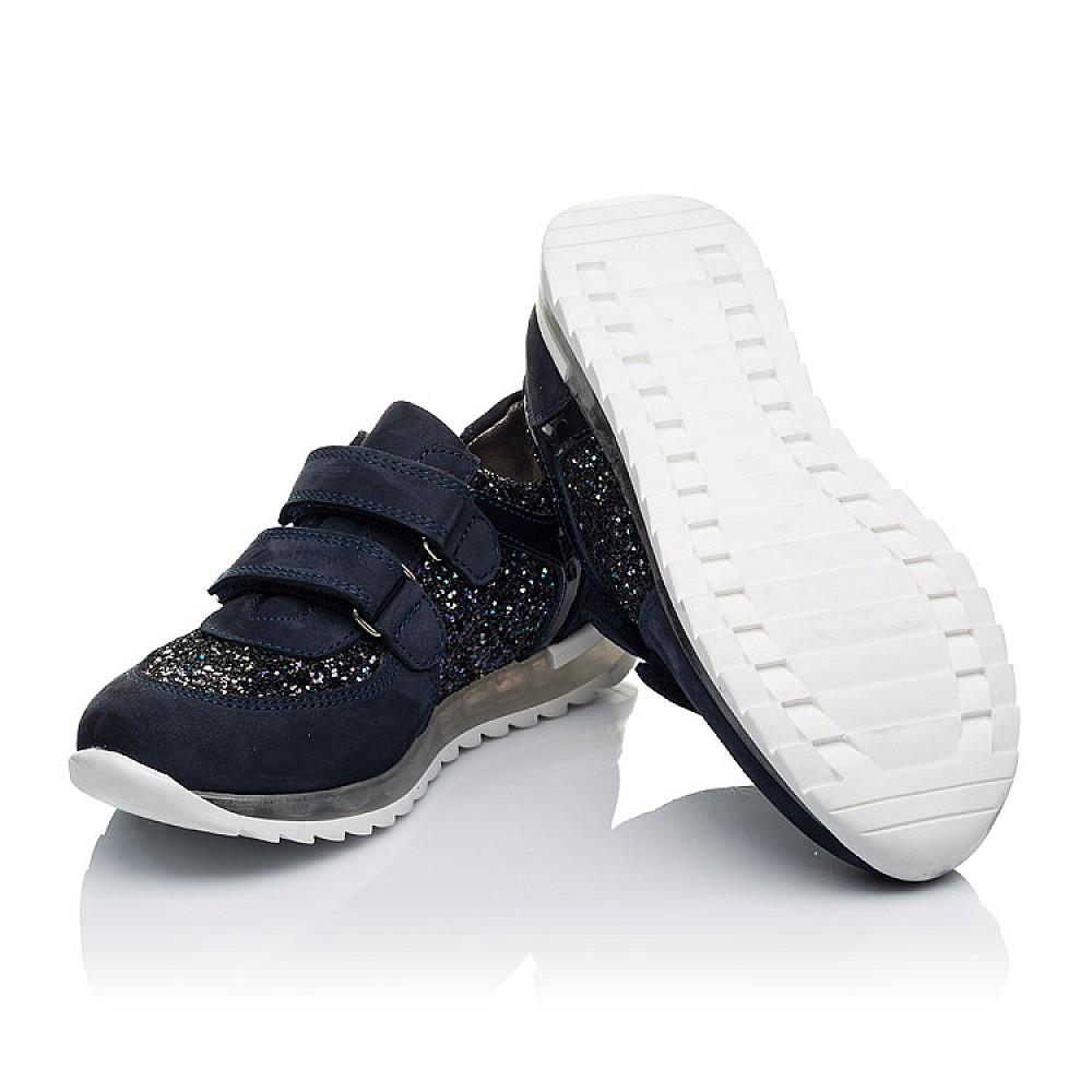 Детские кроссовки Woopy Orthopedic темно-синие для девочек натуральный нубук, современный искусственный материал размер 26-40 (3399) Фото 2