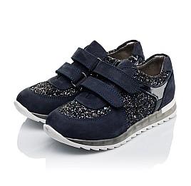 Детские кроссовки Woopy Orthopedic темно-синие для девочек натуральный нубук, современный искусственный материал размер 26-40 (3399) Фото 3