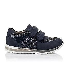 Детские кроссовки Woopy Orthopedic темно-синие для девочек натуральный нубук, современный искусственный материал размер 26-40 (3399) Фото 4