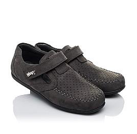 Детские туфли Woopy Orthopedic серые для мальчиков натуральный нубук размер 32-36 (3400) Фото 1