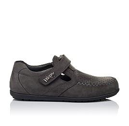 Детские туфли Woopy Orthopedic серые для мальчиков натуральный нубук размер 32-36 (3400) Фото 4