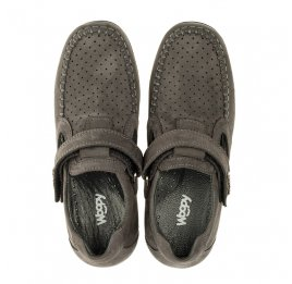 Детские туфли Woopy Orthopedic серые для мальчиков натуральный нубук размер 32-32 (3400) Фото 5
