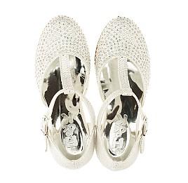 Детские туфлі Woopy Orthopedic серебряный для девочек современный текстиль размер - (3414) Фото 5