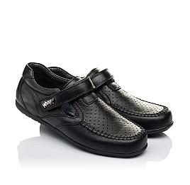 Детские туфли Woopy Orthopedic черные для мальчиков натуральная кожа размер 31-37 (3415) Фото 1