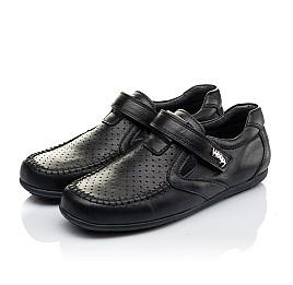 Детские туфли Woopy Orthopedic черные для мальчиков натуральная кожа размер 31-37 (3415) Фото 3