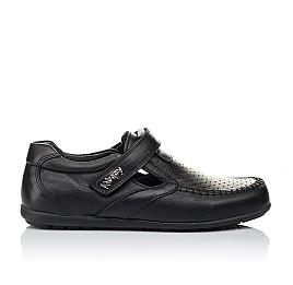 Детские туфли Woopy Orthopedic черные для мальчиков натуральная кожа размер 31-37 (3415) Фото 4