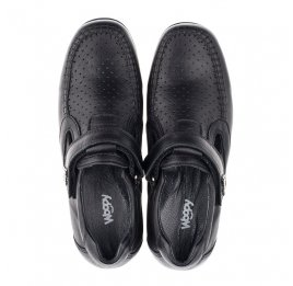 Детские туфли Woopy Orthopedic черные для мальчиков натуральная кожа размер 31-37 (3415) Фото 5