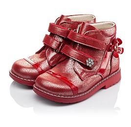 Детские демисезонные ботинки (подкладка кожа) Woopy Orthopedic красные для девочек натуральная кожа размер 18-18 (3417) Фото 3