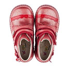 Детские демисезонные ботинки (подкладка кожа) Woopy Orthopedic красные для девочек натуральная кожа размер 18-18 (3417) Фото 5