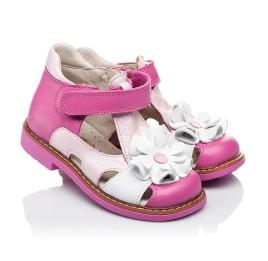 Детские закрытые босоножки Woopy Orthopedic розовые для девочек натуральная кожа размер - (3424) Фото 1