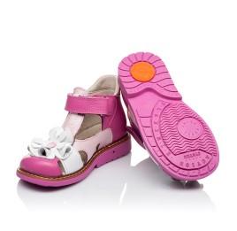 Детские закрытые босоножки Woopy Orthopedic розовые для девочек натуральная кожа размер - (3424) Фото 2