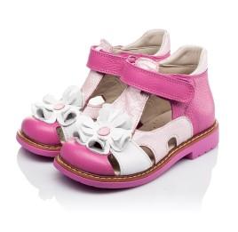 Детские закрытые босоножки Woopy Orthopedic розовые для девочек натуральная кожа размер - (3424) Фото 3