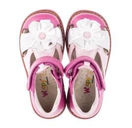 Детские закрытые босоножки Woopy Orthopedic розовые для девочек натуральная кожа размер - (3424) Фото 5