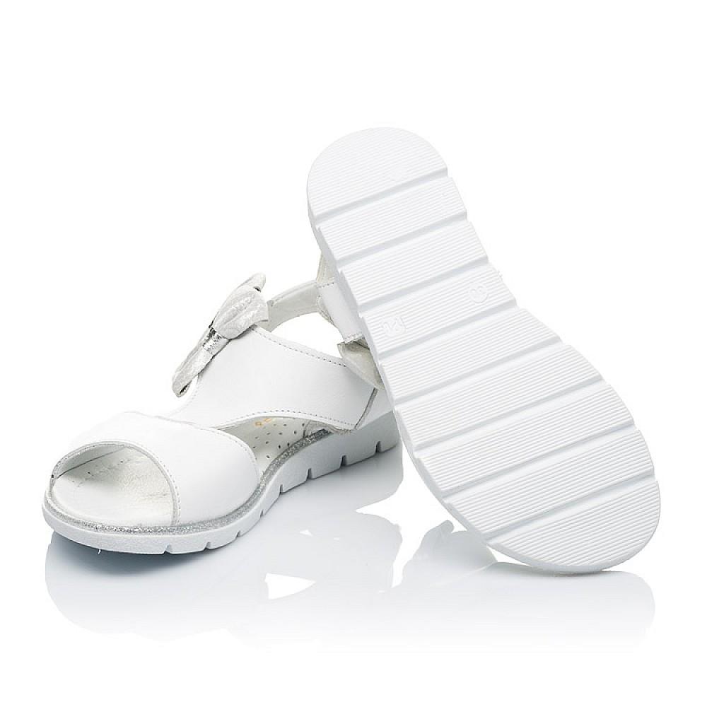 Детские босоножки Woopy Orthopedic белые для девочек натуральная кожа размер 30-36 (3426) Фото 2