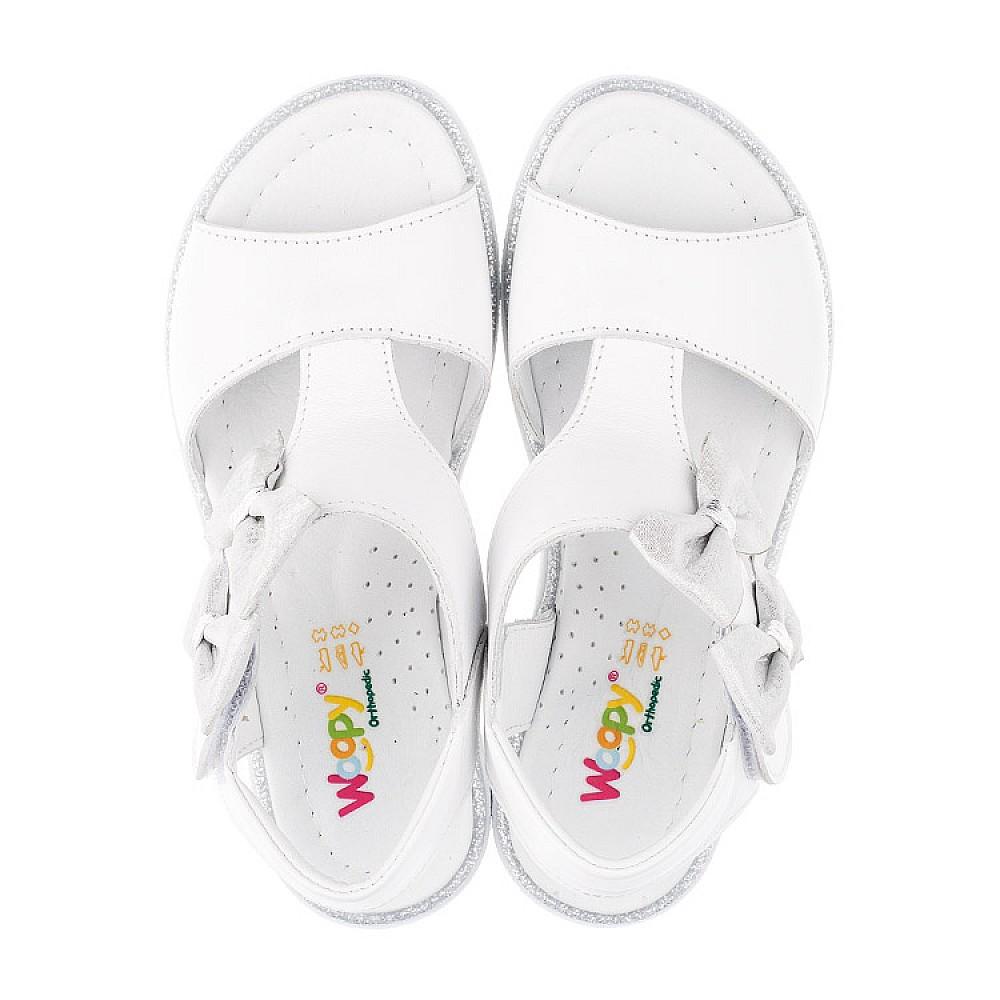 Детские босоножки Woopy Orthopedic белые для девочек натуральная кожа размер 30-36 (3426) Фото 5