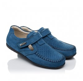 Детские туфли Woopy Orthopedic синие для мальчиков натуральный нубук размер 35-35 (3434) Фото 1